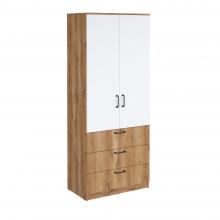 Шкаф гардеробный Сеул с 3 ящиками-800