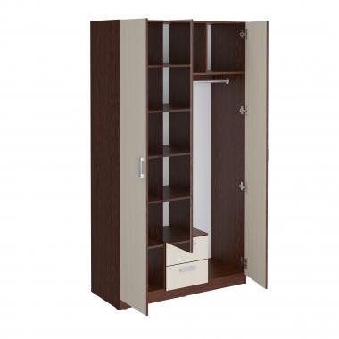 Шкаф гардеробный 1200 с зеркалом Уфимка