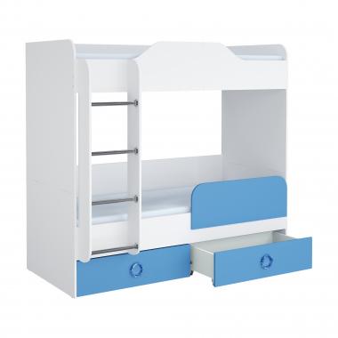 Кровать 1800 (синий) II Baby