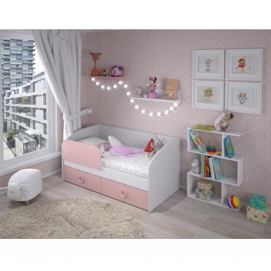 Кровать Baby 1600 (розовый)