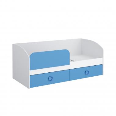 Кровать 1800 (синий) Baby