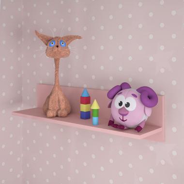 Полка навесная 800 (розовый) Baby